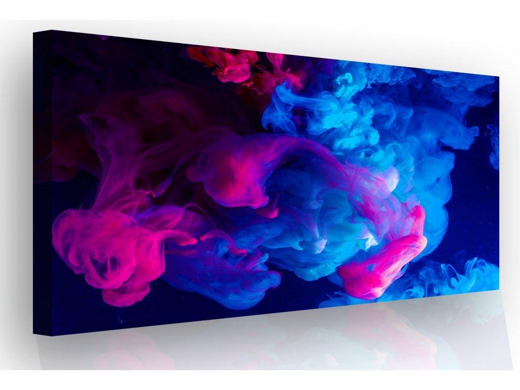 Obraz - fialovo modrý dým (Velikost 120x80 cm)