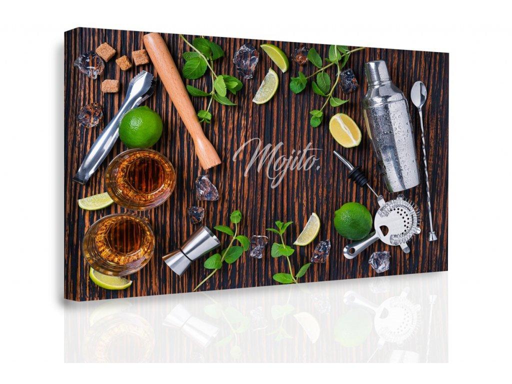 Obraz - Ingredience do Mochita (Velikost 150x100 cm)
