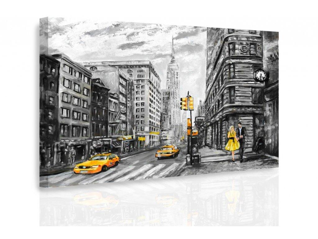 Obraz - Malovaný New York (Velikost 120x80 cm)