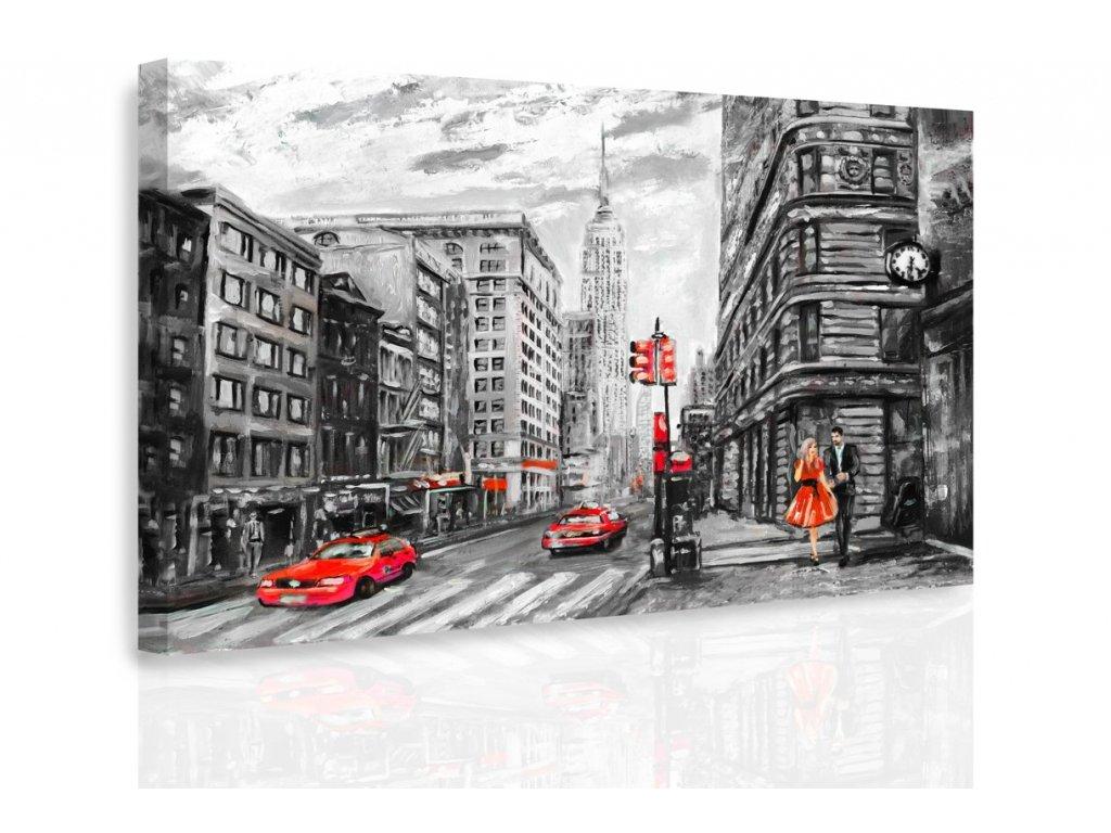 Obraz - Malovaný New York II. (Velikost 120x80 cm)