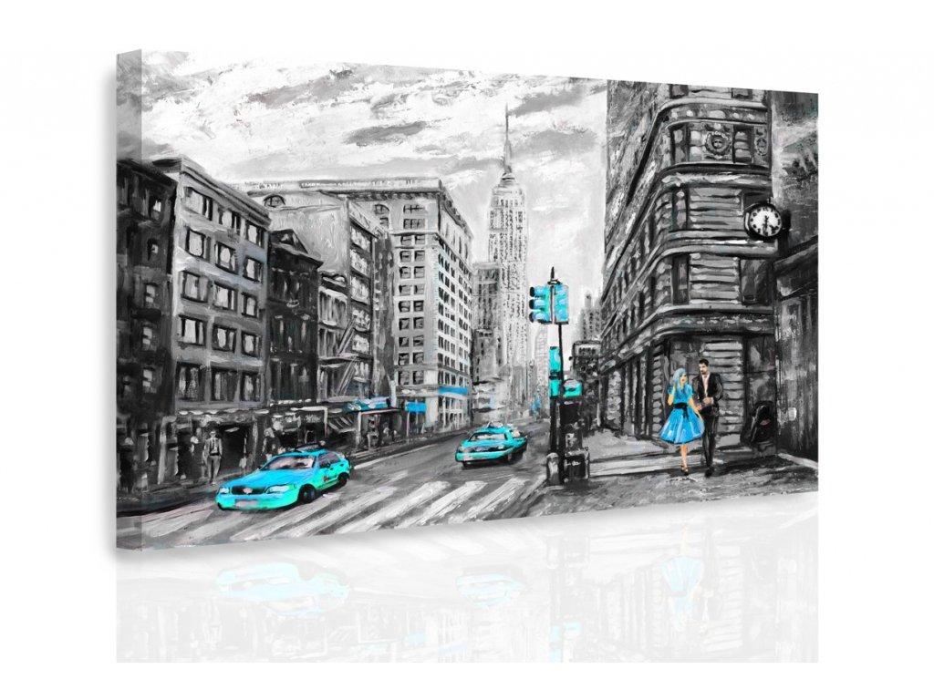 Obraz - Malovaný New York IV. (Velikost 120x80 cm)