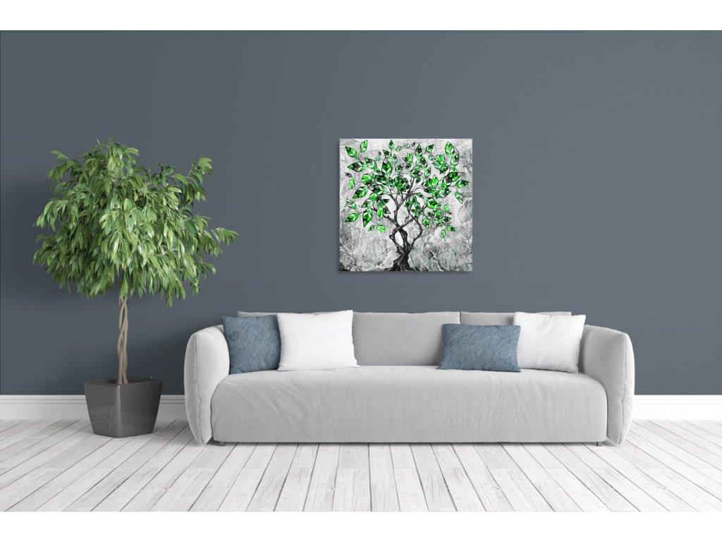 Obraz - Malovaný strom V. (Velikost 50x50 cm)