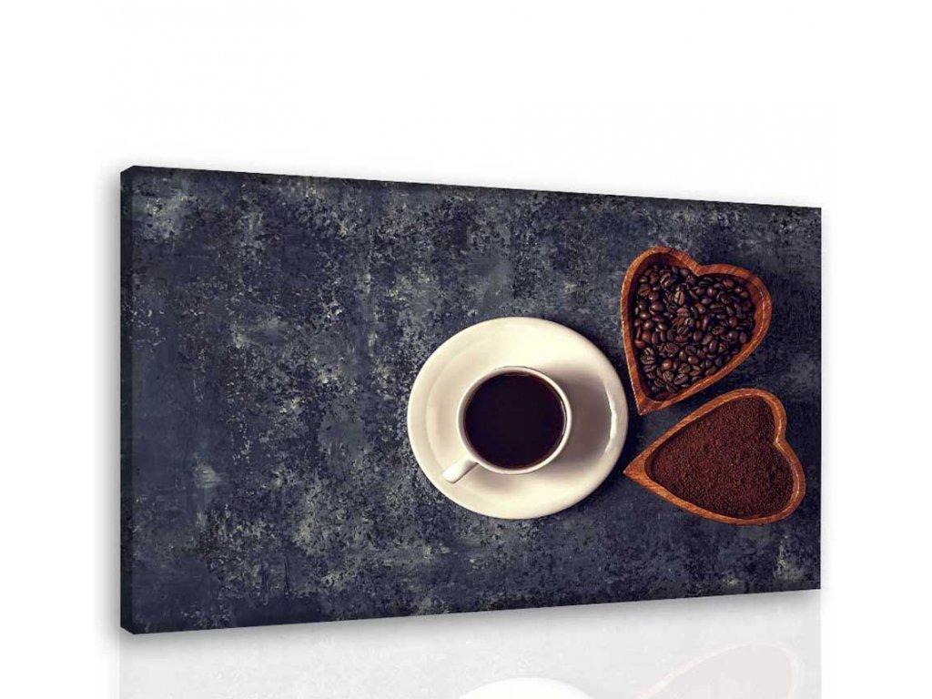 Obraz - Miluji kávu (Velikost 90x60 cm)