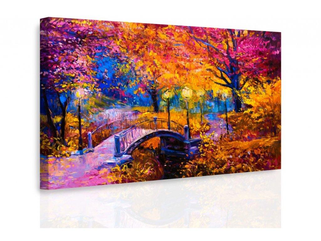 Obraz - Most v barevné krajině (Velikost 150x100 cm)