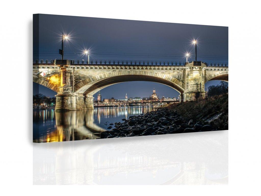 Obraz - Noční Drážďany (Velikost 150x100 cm)