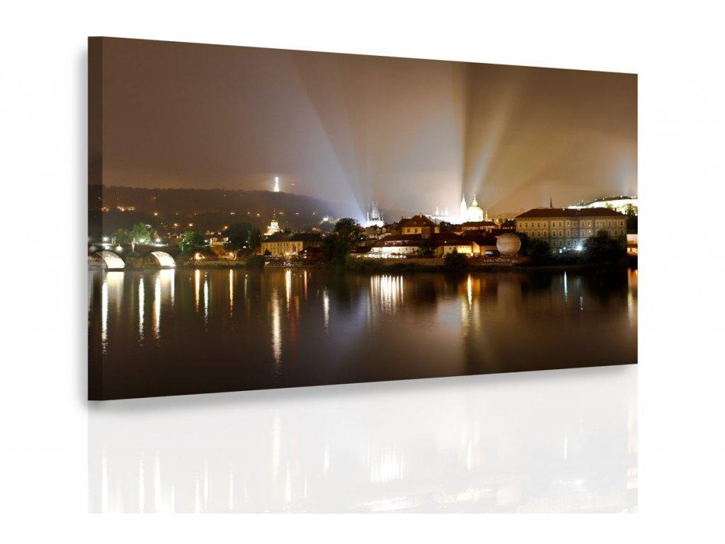 Obraz - Noční Praha (Velikost 150x100 cm)