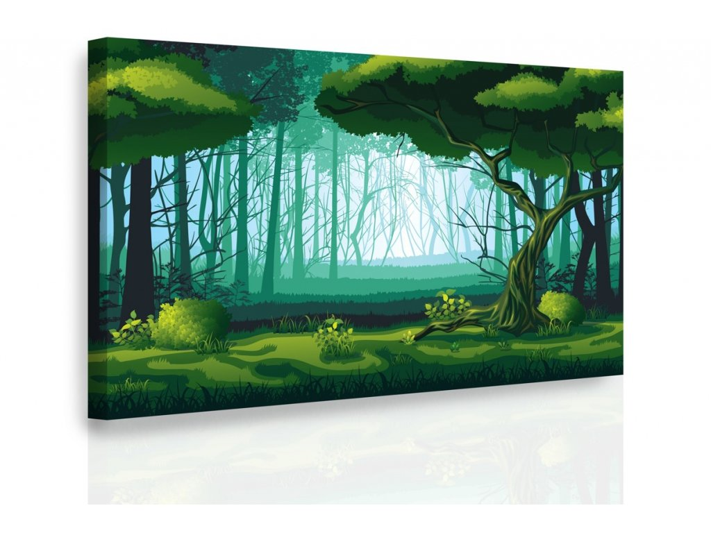 Obraz - Pohádkový les (Velikost 150x100 cm)