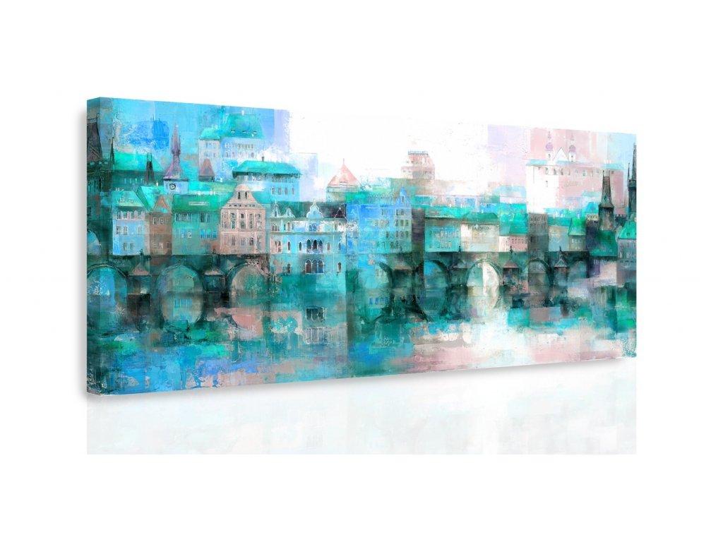 Obraz - Předměstí IV. (Velikost 120x60 cm)