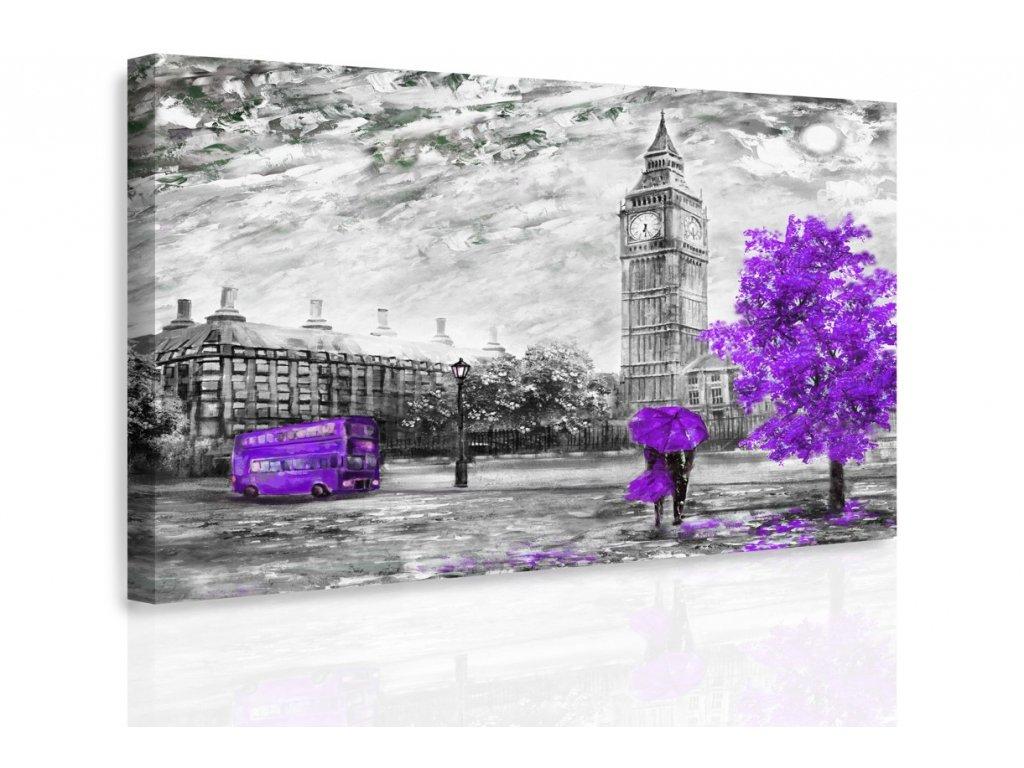 Obraz - Romantický Londýn II. (Velikost 120x80 cm)