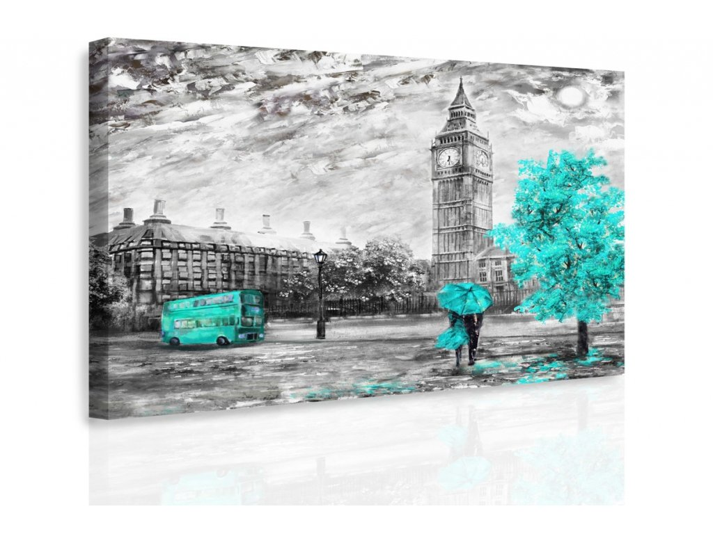 Obraz - Romantický Londýn III. (Velikost 150x100 cm)