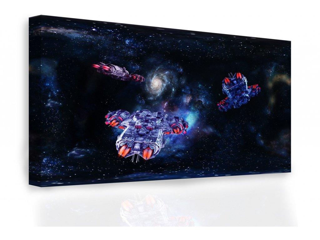 Obraz - Vesmírné koráby (Velikost 120x80 cm)