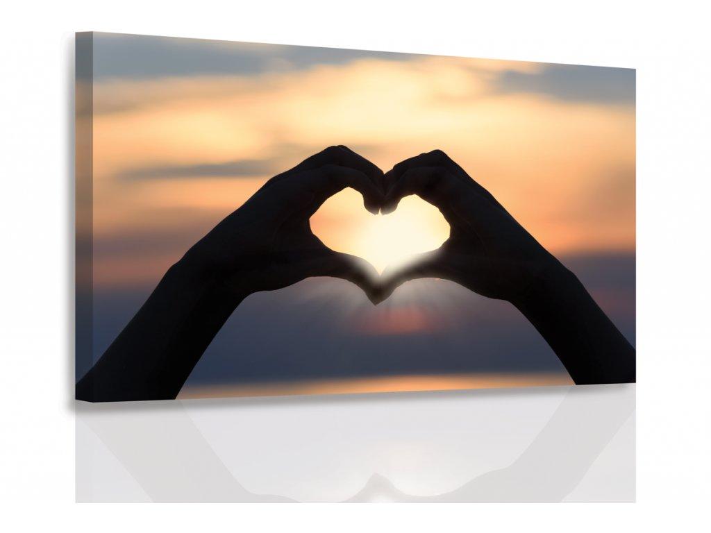 Obraz - Západ slunce jako na dlani (Velikost 150x100 cm)