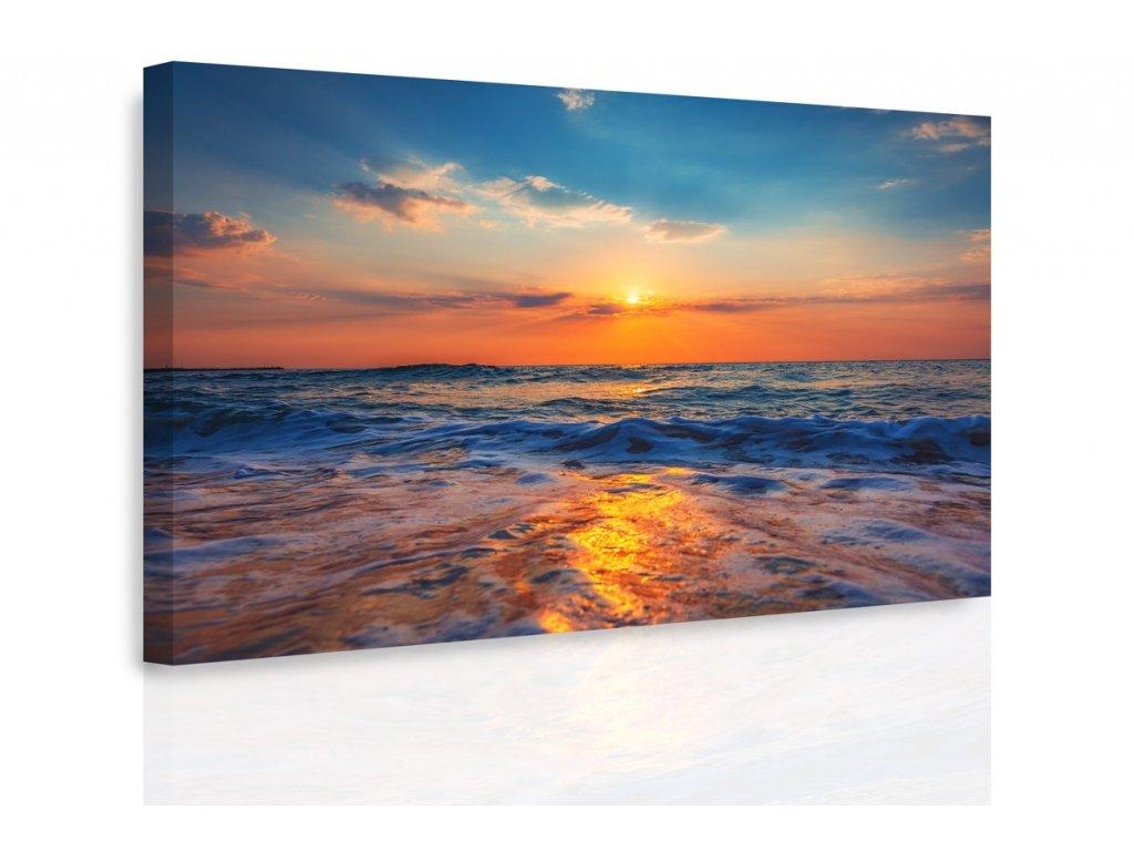 Obraz - Západ slunce nad mořem (Velikost 150x100 cm)