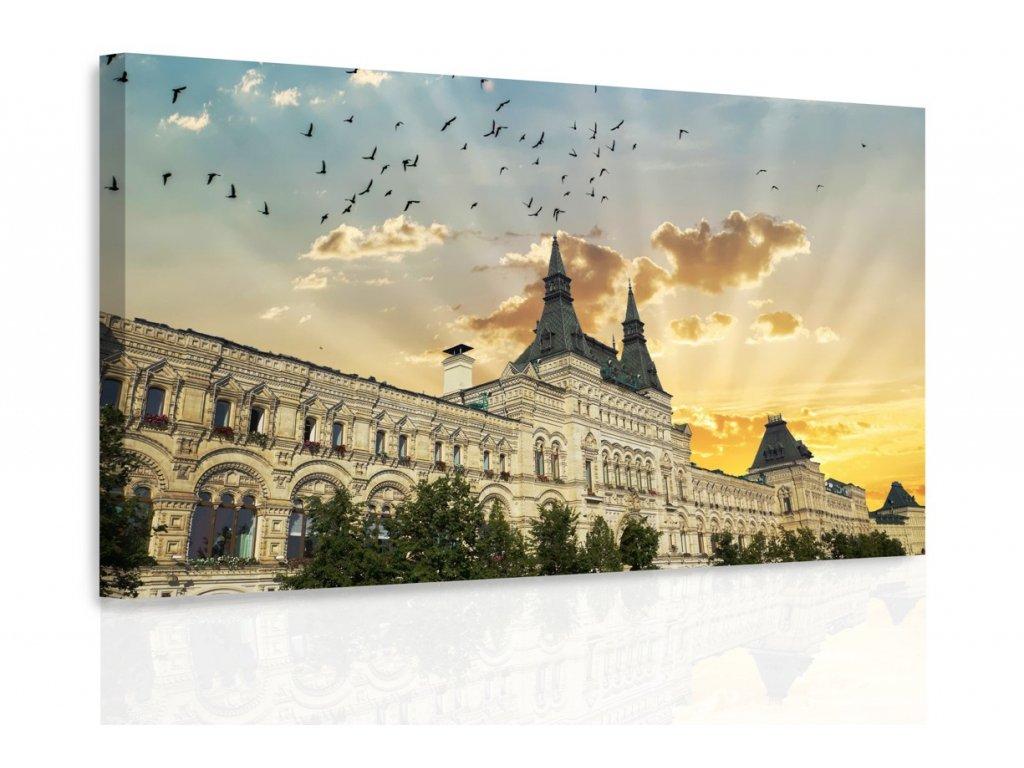 Obraz - Západ slunce za domem (Velikost 120x80 cm)