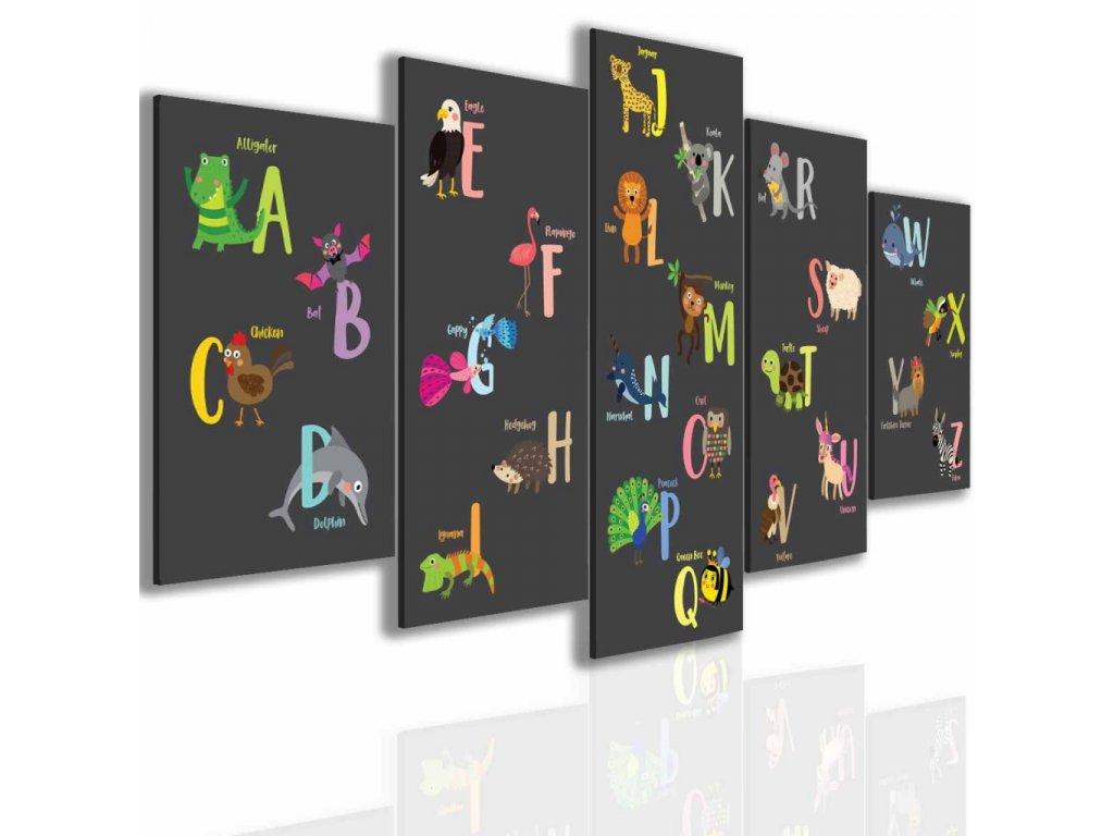Obraz abeceda (Velikost 150x75 cm)