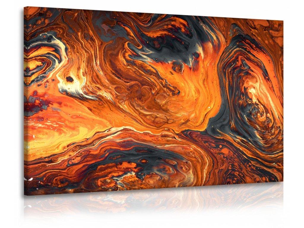 Obraz abstrakce láva (Velikost (šířka x výška) 120x80 cm)