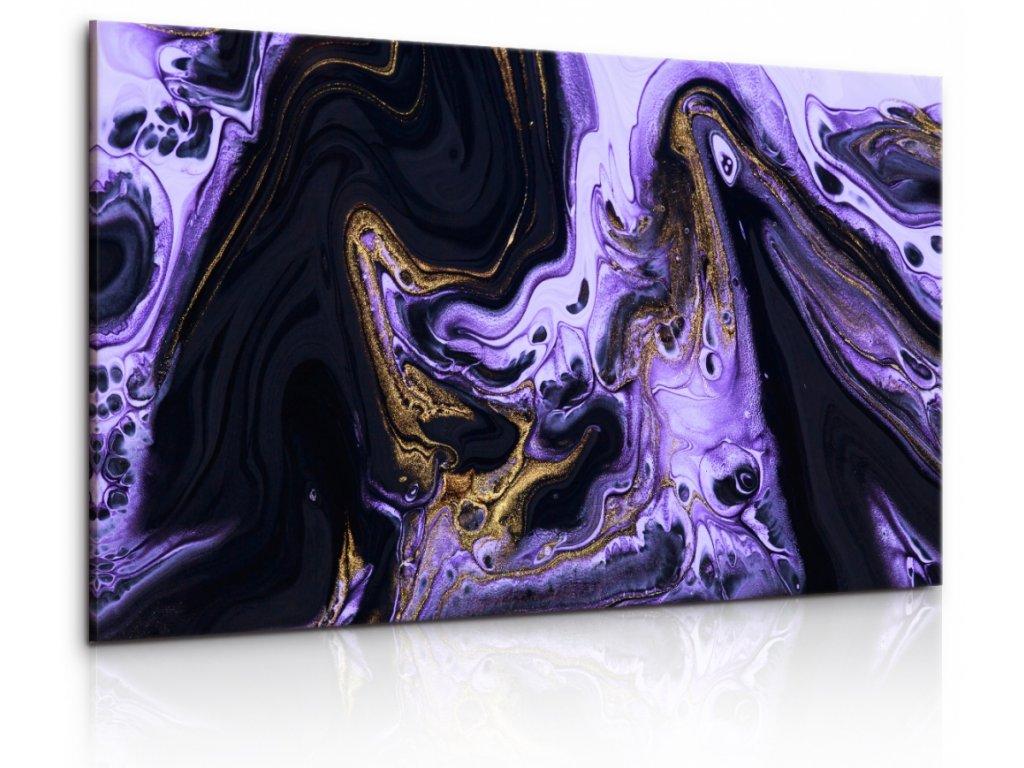Obraz abstrakce v fialové (Velikost 90x60 cm)