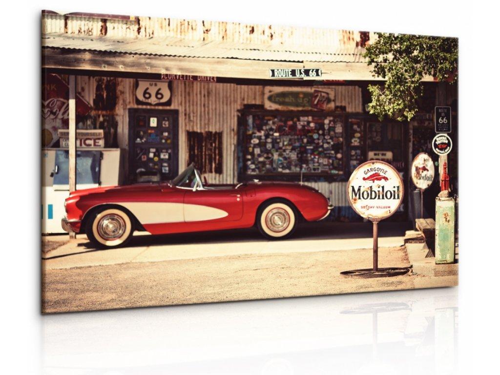 Obraz Americká benzinová pumpa (Velikost 120x80 cm)