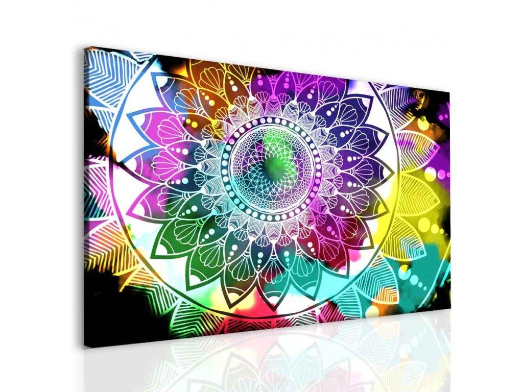Obraz barevná mandala (Velikost 150x100 cm)