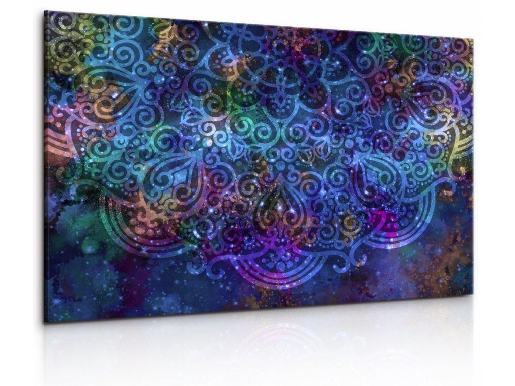 Obraz Bohatě vesmírná mandala (Velikost 120x80 cm)