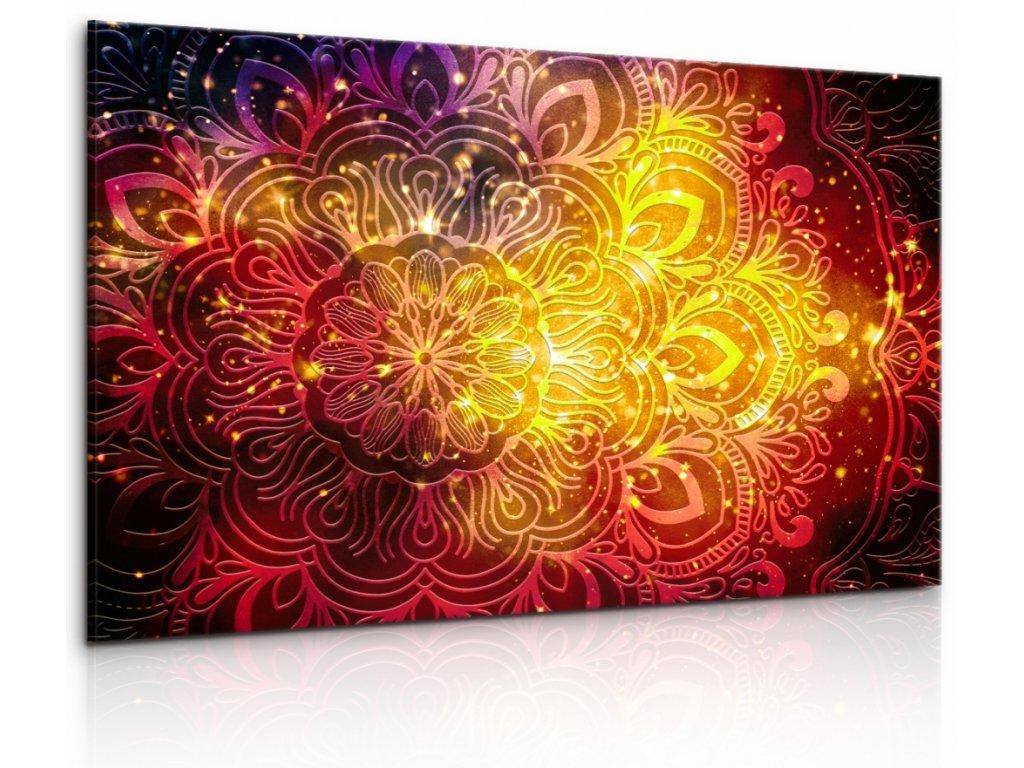 Obraz Bohatě vesmírná mandala II (Velikost 120x80 cm)