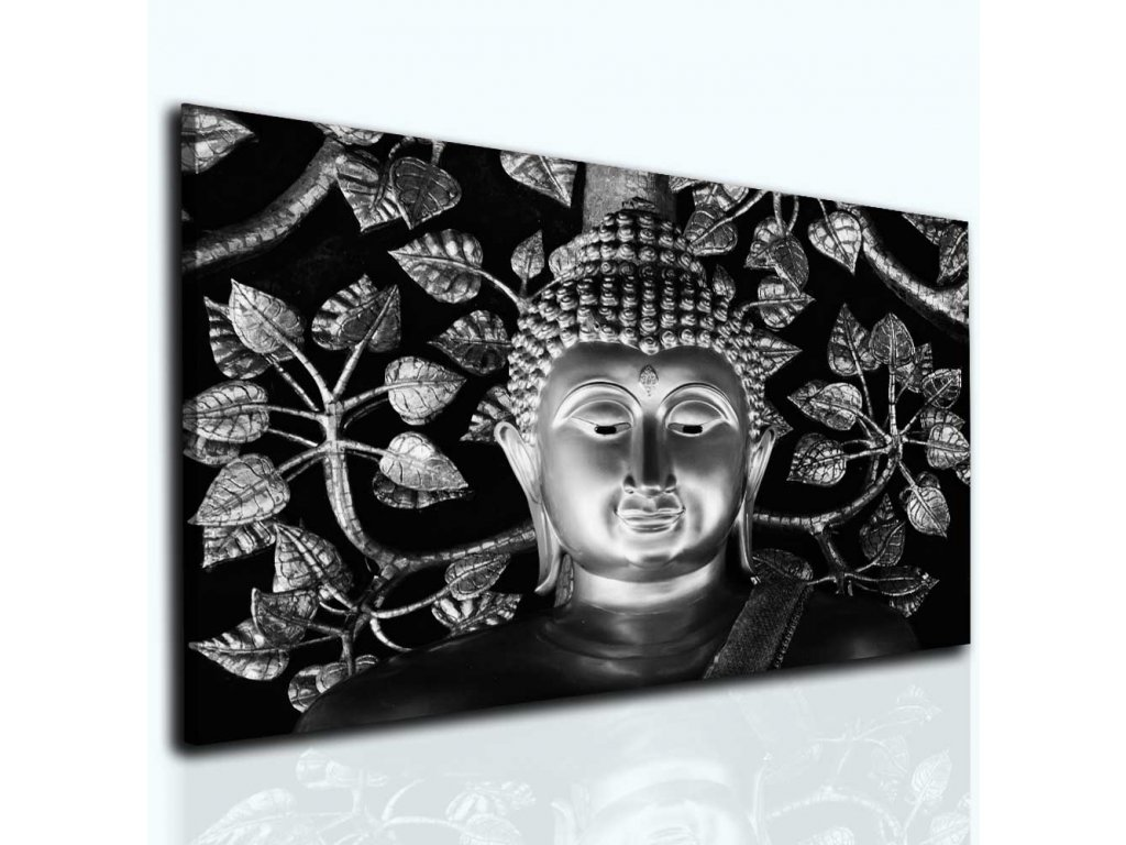 Obraz Buddha silver (Velikost 120x80 cm)