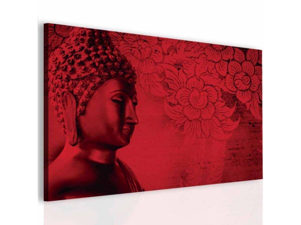 Obraz Buddha v červené (Velikost (šířka x výška) 120x60 cm)