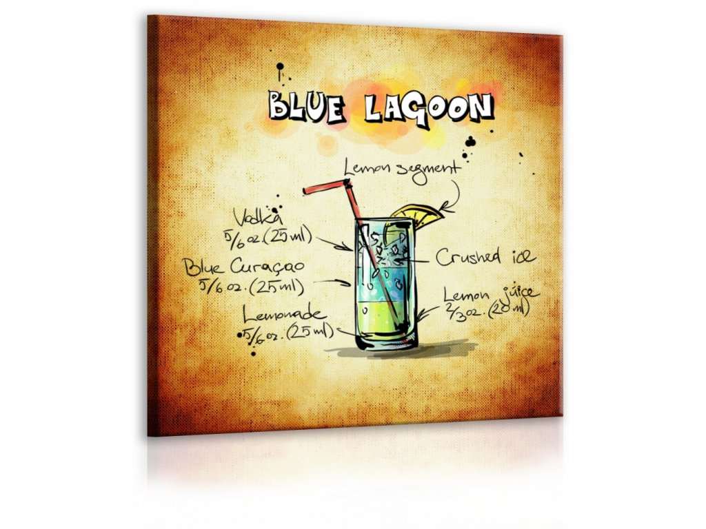 Obraz cedule Blue Lagoon (Velikost (šířka x výška) 30x30 cm)