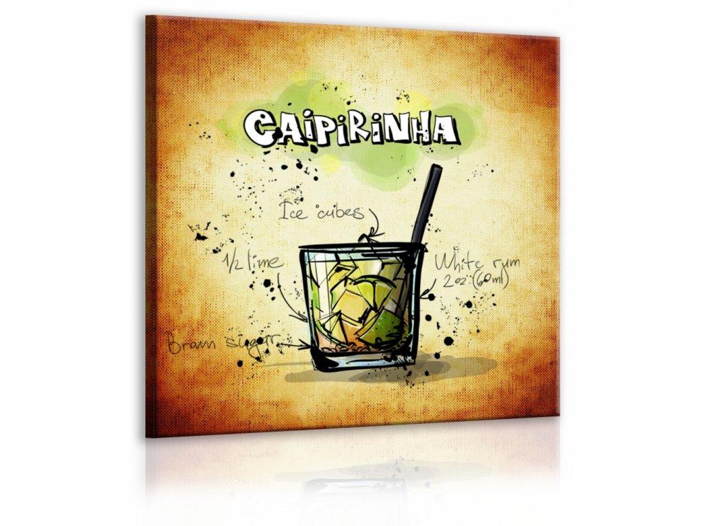 Obraz cedule Caipirinha (Velikost (šířka x výška) 30x30 cm)