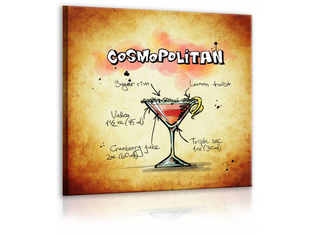 Obraz cedule Cosmopolitan (Velikost (šířka x výška) 30x30 cm)
