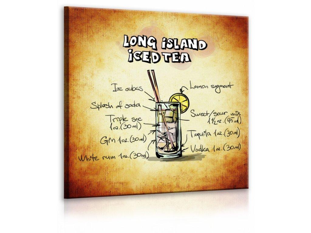 Obraz cedule Long Island Iced Tea (Velikost (šířka x výška) 30x30 cm)