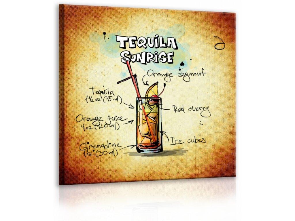 Obraz cedule Tequila Sunrise (Velikost (šířka x výška) 30x30 cm)