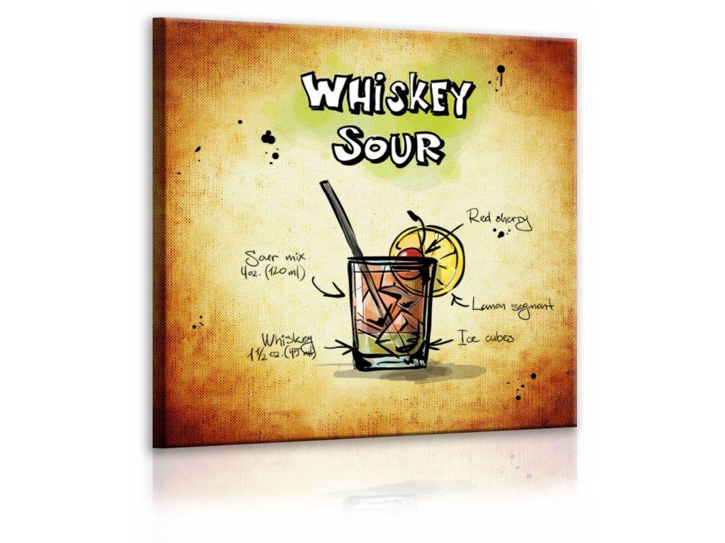 Obraz cedule Whiskey Sour (Velikost (šířka x výška) 30x30 cm)