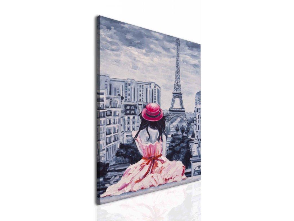Obraz dívka v Paříži (Velikost 60x80 cm)