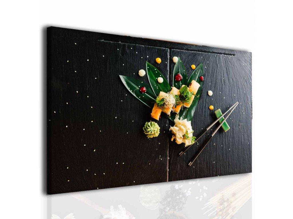 Obraz do jídelny sushi (Velikost 80x50 cm)