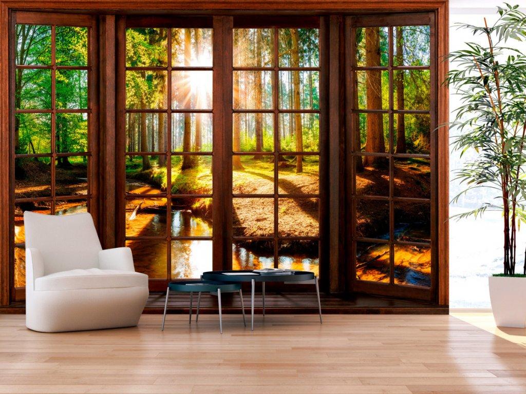 3D tapeta lesní terasa (Rozměry (š x v) a Typ 147x105 cm - samolepící)