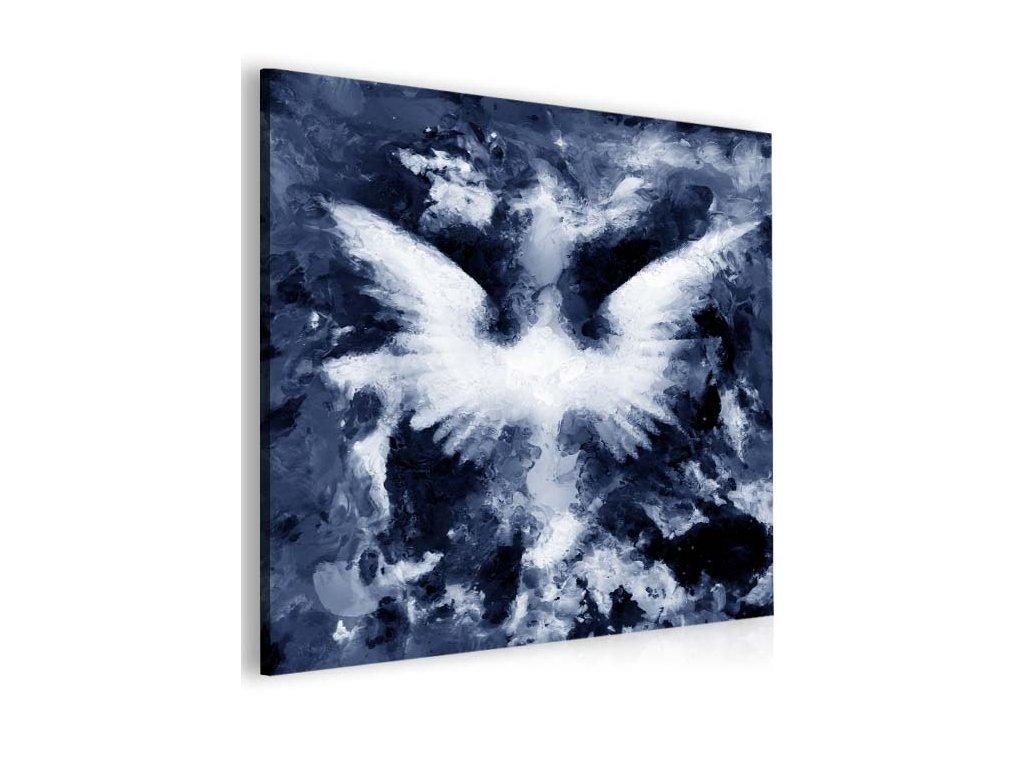 Abstraktní obraz andělská křídla - modrý (Velikost (šířka x výška) 100x100 cm)