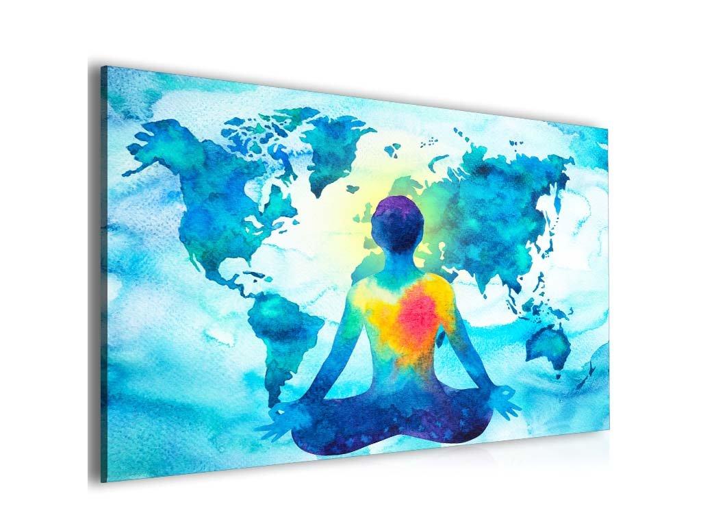 Abstraktní obraz mapa meditace (Velikost 120x80 cm)