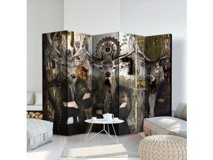 Paraván zvířecí trio (Velikost 225x172 cm)