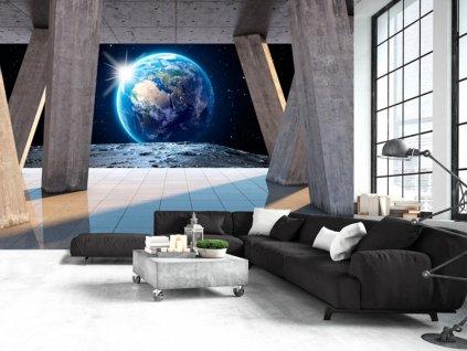 Pohled z jiného světa (Rozměry (š x v) a Typ 147x105 cm - samolepící)