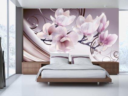 Setkání s magnolií (Rozměry (š x v) a Typ 147x105 cm - samolepící)