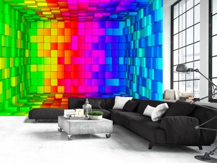 Tapeta barevná krabice (Rozměry (š x v) a Typ 147x105 cm - samolepící)