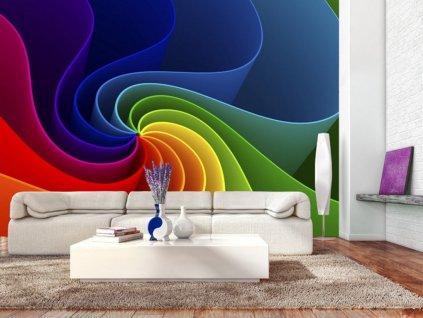Tapeta barevný větrník (Rozměry (š x v) a Typ 147x105 cm - samolepící)