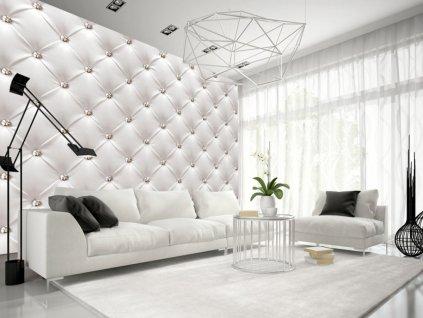 Tapeta Bílá kůže Glamour (Rozměry (š x v) a Typ 147x105 cm - samolepící)