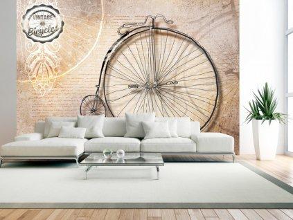 Tapeta historický bicykl (Rozměry (š x v) a Typ 147x105 cm - samolepící)