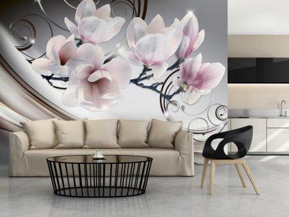 Tapeta krásná magnolie (Rozměry (š x v) a Typ 147x105 cm - samolepící)