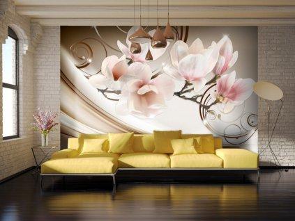 Tapeta krásná magnolie ll. (Rozměry (š x v) a Typ 147x105 cm - samolepící)