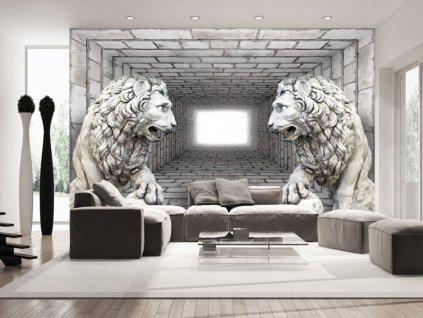 Tapeta lví strážci II (Rozměry (š x v) a Typ 147x105 cm - samolepící)