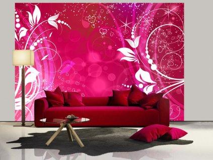 Tapeta magické ornamenty - růžová (Rozměry (š x v) a Typ 147x105 cm - samolepící)