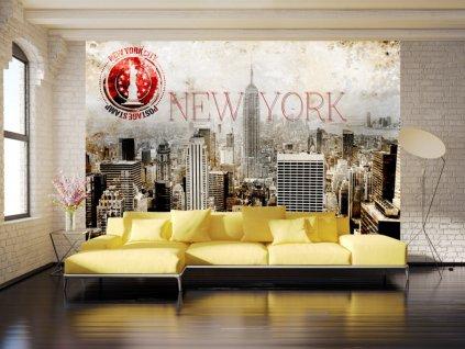 Tapeta pohlednice z New Yorku (Rozměry (š x v) a Typ 147x105 cm - samolepící)